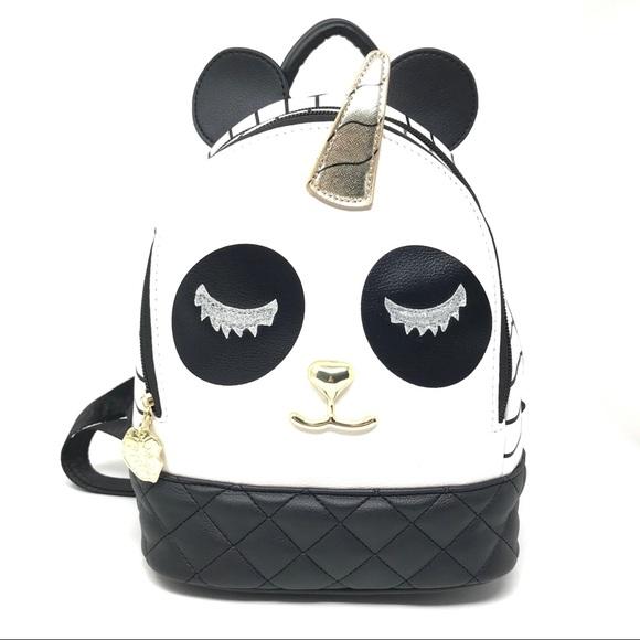 e87c5e32e7e Betsy Johnson Panda Unicorn Book Bag NWT $68 Boutique